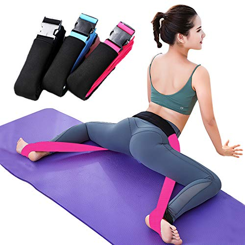 Adjustable Yoga Stretching Strap - Leg Stretcher Band and Flexibility Trainers - Lengthen Ballet Dance Stretch Strap for Ballet Yoga Dance or Gymnastics Training