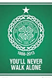 1art1 63157 Fußball Poster - Celtic Glasgow, You'll Never