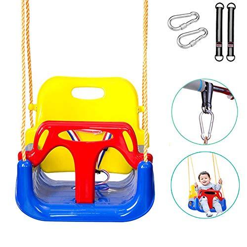 KIAN ABBOTT 3 in 1 Baby Swing Seat,Toddler Swing for Outside Tree,Anti-Flip Snug & Secure Detachable Infants to Teens Kids Swing Seat for Outdoor Indoor