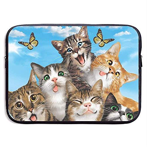 Selfie Cute Cats Laptoptas met ritssluiting voor laptop tas voor tablets, 13 inch