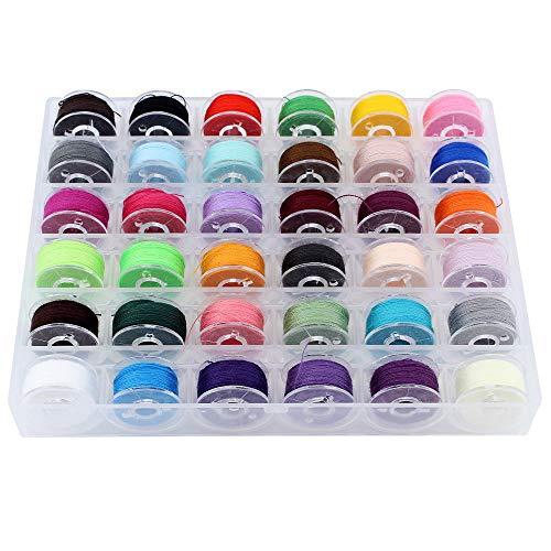 Shawfly 36 piezas de hilos bobina para máquina coser, con caja almacenamiento, juego en hilo coser alta calidad colores, adecuado la mayoría las máquinas marca