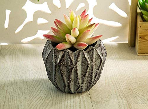 Artificiales flores artificiales en macetas La flor de la simulación planta suculenta planta verde en maceta falsos pequeños adornos de decoración de interior salón bonsai 12.5 * 7.5 * 9cm Ramo adorno