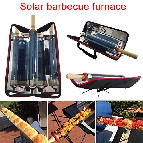 WYX Griglia Solare, Cucina Solare, Cottura degli Alimenti con Barbecue, Cucina Solare, Forno Solare, BBQ Grill Cucina Solare con Barbecue, Griglia Solare Portatile Barbecue Pieghevole Cucinare Cibo