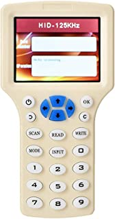 RFID Copier Card, Handheld ABS White RFID Copiadora cifrada Lector Escritor Duplicador Smart Card, RFID Writer