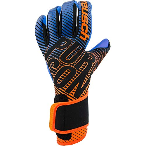 Reusch Herren Pure Contact 3 S1 Torwarthandschuh, Black/Shocking orange/deep Blue, 11