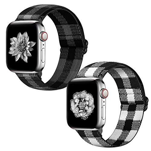 Pulsera Neoxik compatible con Apple Watch de 38, 40, 42 y 44 mm, banda trenzada, suave y transpirable, para el Serie SE 6, 5, 4, 3, 2 y 1, pulsera deportiva ajustable para hombres y mujeres