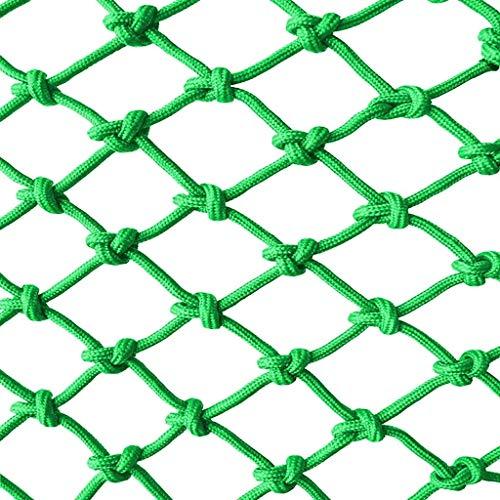 Kinderschutznetz Balkon Sicherheitsnetz Treppe Bruchsicheres Netz Kindergartendekoration Netzzaun Netz Handgewebtes Netz 1m2m3m4m (grün) (Size : 1 * 4m)