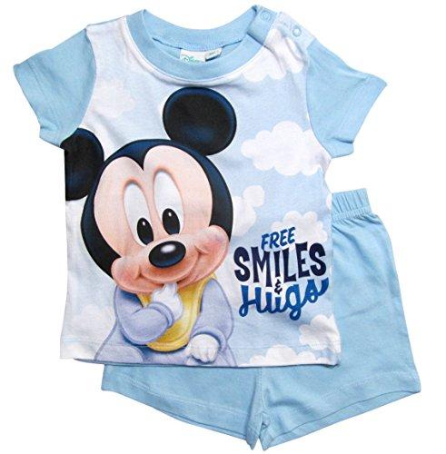 Mickey Mouse Mickey Mouse Kollektion 2018 Schlafanzug 68 74 80 86 92 Jungen Shorty Pyjama Shortie Disney Maus (Hellblau, 68-74)