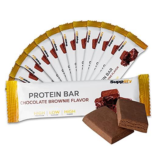 Barra proteica Protein Bar Low Carb Q-Bar, fitness snack Isolat da siero del latte - scatola da 12 x 60 g, sostitutivo alimentare sano al gusto naturale