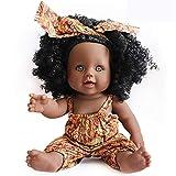 Nice2you Poupée Noire Afro-américaine Réalistes 12 Pouces Bébé Poupées pour Enfants Jouets pour Enfants