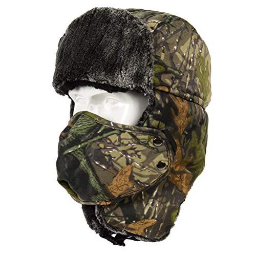 Kampre Winter Outdoor Trapper Trooper Skihut Fietshoed met oorflap en winddicht masker