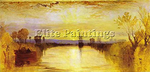 Elite-Paintings William Turner Chichester Canal Artista Quadro Dipinto Olio su Tela A Mano 30x60cm Alta qualita