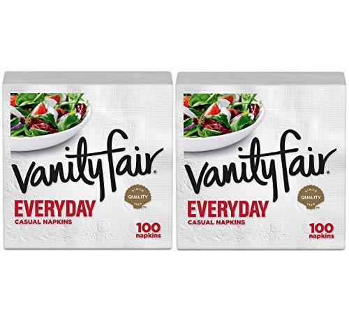 Vanity Fair Everyday Napkins, White - 100 ct - 2 pk