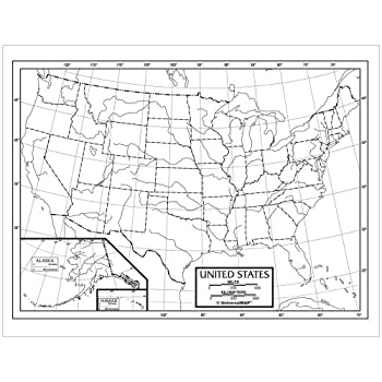us outline map