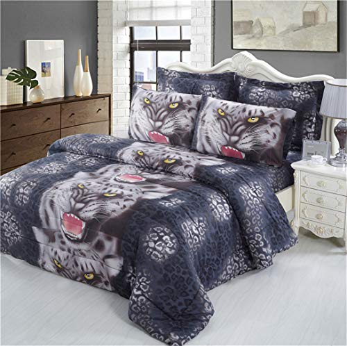 Junsey 3D Leopard Bedding Set Fu...