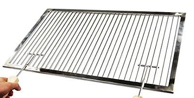 Profi Grillrost Edelstahl 58 x 38 cm + Griffe passend für WEBER SPIRIT E-210 bis 2012 Grill Gasgrill Hersteller Herstellung Fertigung Anfertigung