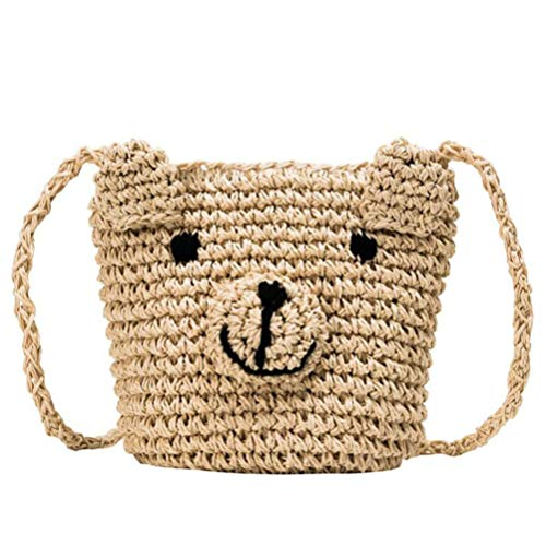 Straw bag crossbody is made of premium material, comfortable touch and Exquisite appearance. This straw handbags for women of cute design makes you look unique and fashion. It has enough space for your stuff for travel and daily necessities such as w...