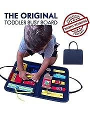 Montessori Busy Board pour Les Tout-Petits, Planche éducative sensorielle Essentielle motricité Fine Voyage Jouet Apprentissage Robe pour 1 2 3 4 5 Ans Tout-Petits, Jouets de Voyage pour Tout-Petits