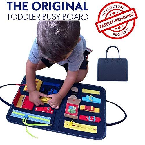 Filz Besetzt-Brett für Kleinkinder, Lernen Lernspielzeug Basic Life Fähigkeiten Activity-Brett für Kleinkinder zu Zip, Verschluss, Knopf, Schnalle, Spitze und Krawatte