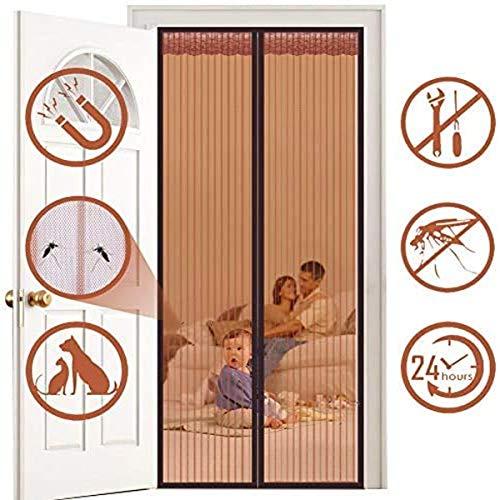 Horren voor Deuren Magnetic Mesh Curtain Anti-mug Insect voor Balcony schuifdeur Living Room Children's Room 95 x 220cm