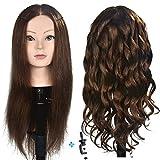 ErSiMan Frisierkopf, weiblich, mit 90% Echthaar, 50,8 cm, zum Flechten von Haaren, Friseur-Übung,...