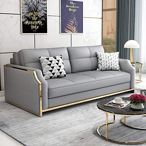 Home Equipment Premium Convertible Sofa Futon with Space Saving Storage Compartments Sofa Bed Couch for Living Room Ergonomic Design Foldable Loveseat Sleeper Sofa Furniture Decoration Khaki 2.05M