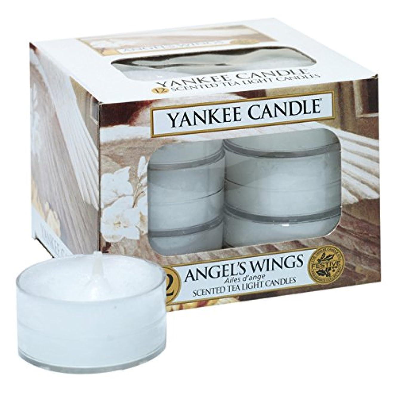 同等のとにかく逆にYankee Candle Angel 's Wings 12香りつきティーライトキャンドル