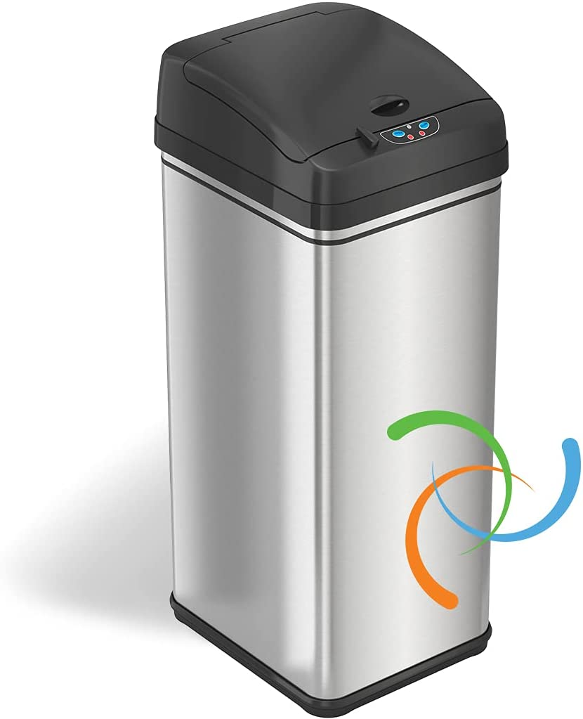 iTouchless Max 62% OFF 13 Ranking TOP3 Gallon Stainless Steel Trash with Can Abso Kitchen