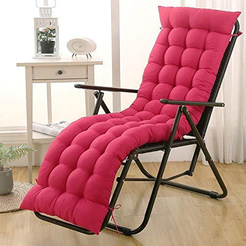 Cuscino lungo spesso Cuscino per lettino prendisole Cuscino per sedia reclinabile portatile con schienale, Sedia da giardino Cuscino per materasso per lettino Materassino per panca, da interno o est