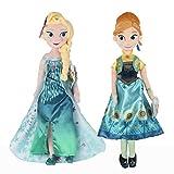 2 Pièces Disney La Reine des Neiges Peluche 40 Cm Snow Queen Princesse Anna Elsa Poupée Jouets en Peluche Enfants Cadeau De Noël