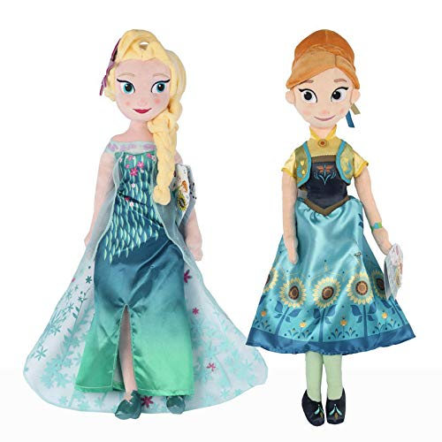 mingmi Frozen Snow Queen Princess Anna Elsa Doll Toys Stuffed Plush Kids Toys Gift 50 Cm Cute Anime Doll Decoración Familiar Almohada