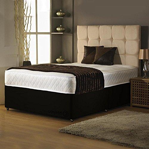 Home Furnishings UK Hf4you Memory Foam Divan Bed Set - 3FT Single - No Drawers - No Headboard