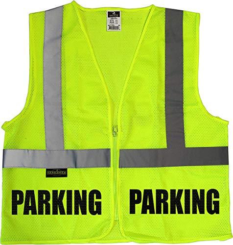 Conspiracy Tee Parking Attendant mesh Vest, Parking Staff Vest, Safety, Valet, Event Parking