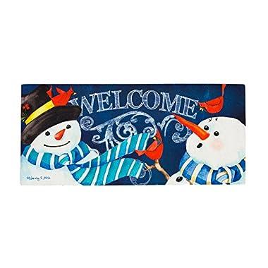Snowman Welcome Sassafras Switch Mat by Evergreen Enterprises