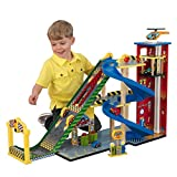 KidKraft- Jeu de Construction Ensemble Rampe Voiture de Course, 63267, Multicolore