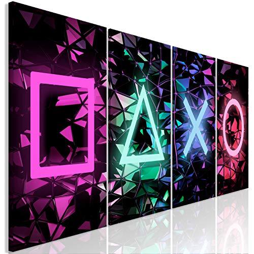 murando Acrylglasbild für Gamers 160x60 cm 4 Teilig Wandbild auf Acryl Glas Bilder Kunstdruck Moderne Wanddekoration - Spielkonsole Game i-A-0164-k-i