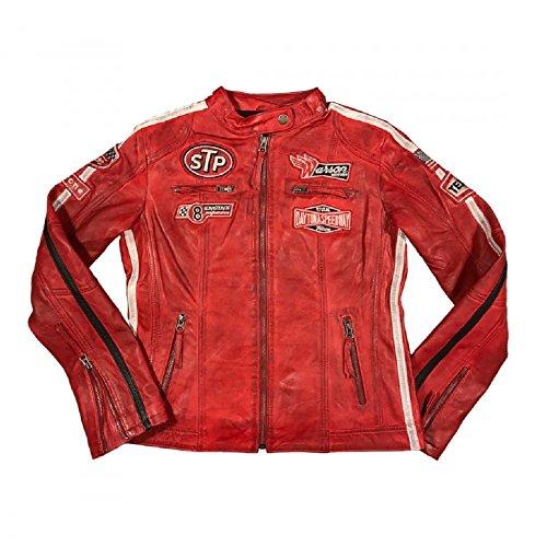 Warson Motors Damen Daytona Rote Lederjacke L