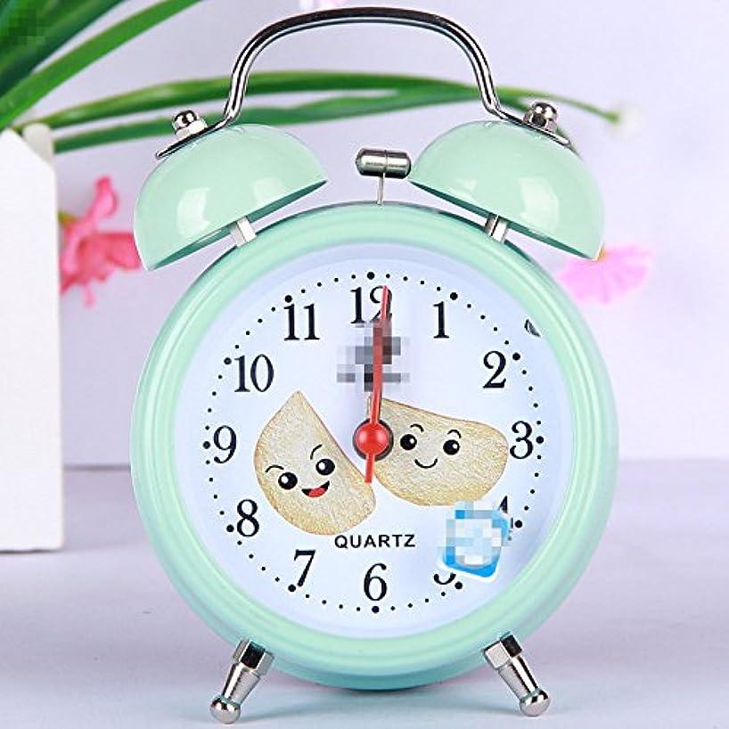 Tuersuer Best Alarm Clock Lovely Kids Children Students Living Room Desk Silent Round Alarm Clock (Light Blue)
