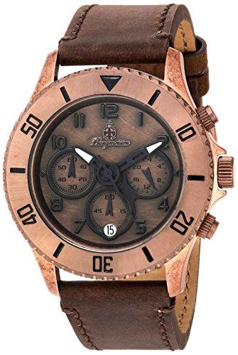 Burgmeister Armbanduhr für Damen mit Analog Anzeige, Chronograph und Lederarmband - Wasserdichte Damenuhr mit zeitlosem, schickem Design - klassische, elegante Uhr für Frauen - BM532-955-1 Vintage