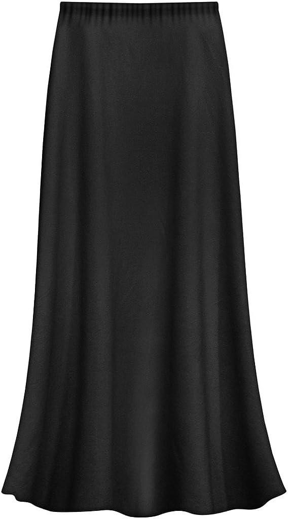 Plus Size Slinky Skirt, Long Maxi