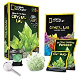 National Geographic Glow-in-The-Dark Crystal Growing Lab - DIY Crystal Creation - Includes Real