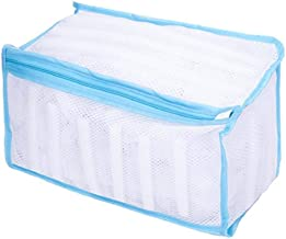 Wash Bag Padded Net Laundry Shoes Protector Polyester Washing Shoes Machine Friendly Laundry Bag Drying Bag (Color : Blue)