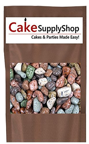 Edible Beach Sea Side Rocks For Cake Decoration and Candy Buffets (8oz Riverstones)