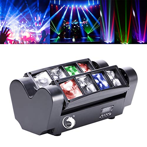 U`King Spider Moving Head Partylicht mit led beam Lichter RGBW 8X10W by DMX controlled Great für Discolicht Stage Lighting Shows …