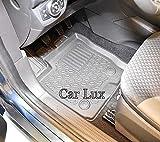 Car Lux AR01829 - Alfombras Alfombrillas de Goma a Medida Tipo cubeta Exclusiv con Borde Alto para Tourneo Courier Desde 2018-
