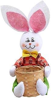 WBTY Panier de rangement portable avec lapin de dessin animé, panier de rangement de nourriture, boîte cadeau, décoration ...
