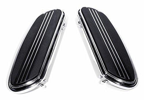 Trittbretter Chrom Floorboards Streamliner Shaker für Harley-Davidson Motorrad schwarz