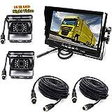 4P 2 ×18LEDs IR Cámara de visión trasera con visión nocturna a prueba de agua con 10M cable+12V-24V 7 'TFT LCD HD Monitor de coche para Autobús /Camión /Remolque/ RV
