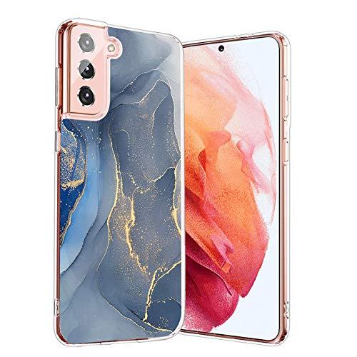 Handytasche-Klare-Tasche-Samsung Galaxy-S21 Plus 5G,Durchsichtig-Marmor-Motiv-Süße-Muster-Bunt-Hülle-Blumen-Hülle,Blumen-Bumper-Hülles-TPU-Schutzhülle-Tasche,für-Samsung Galaxy-S21 Plus 5G-7