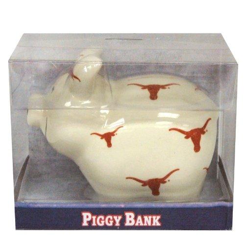 NCAA Texas Longhorns Piggy Bank with All Over Logo